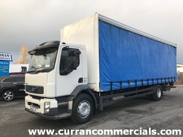 2009 volvo fl240 4x2 18 ton 28ft curtainsider with tail lift