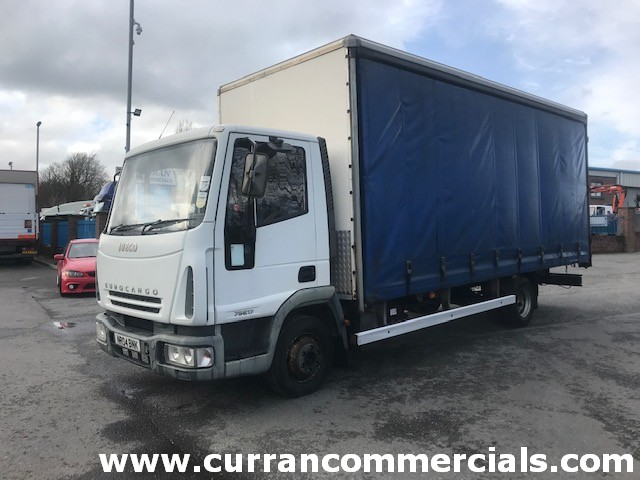 2004 iveco eurocargo 75e17 7.5 ton 20ft curtainsider with barn doors