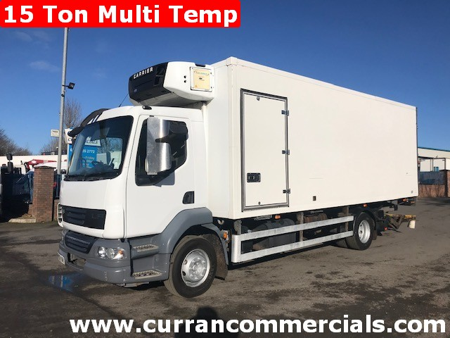 2010 daf lf 55 180 15 ton multi temp fridge with tail lift