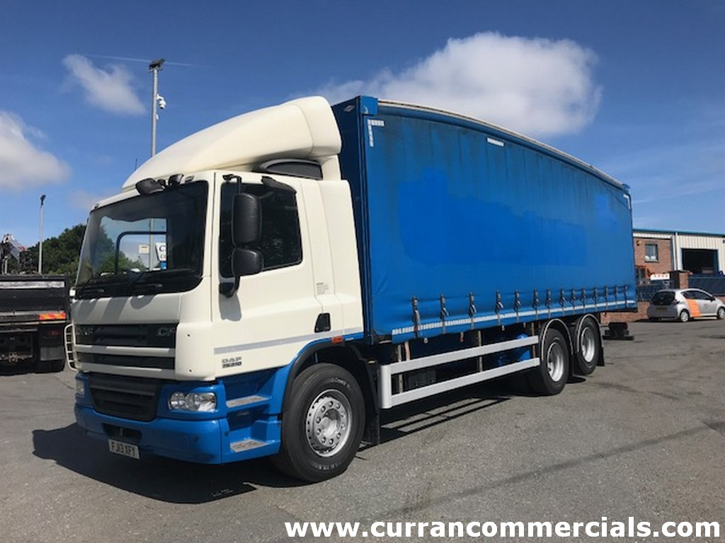 2013 daf cf 75 310 6x2 curtainsider for sale