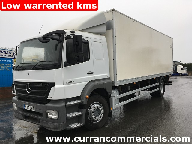 2010 mercedes axor 1824 18 ton 26ft box + tail lift low kms!