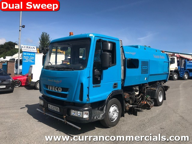 2010 iveco 75e16 7.5 ton LHD scarab merlin xp dual road sweeper