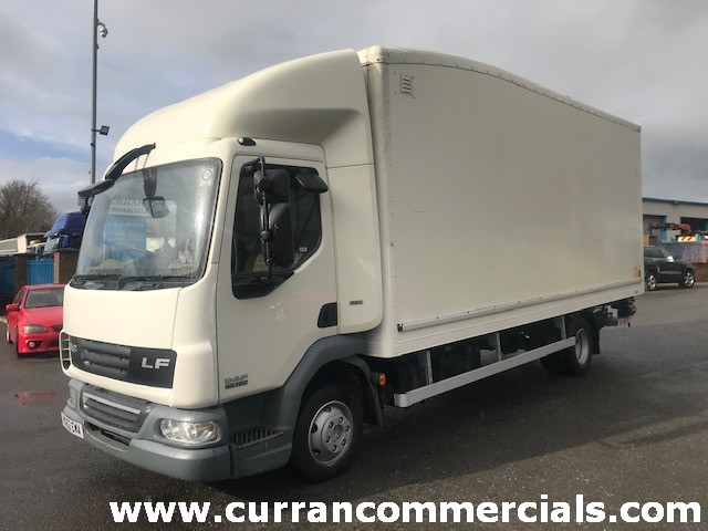 2012 daf lf 45 160 7.5 ton grp box with tail lift for sale