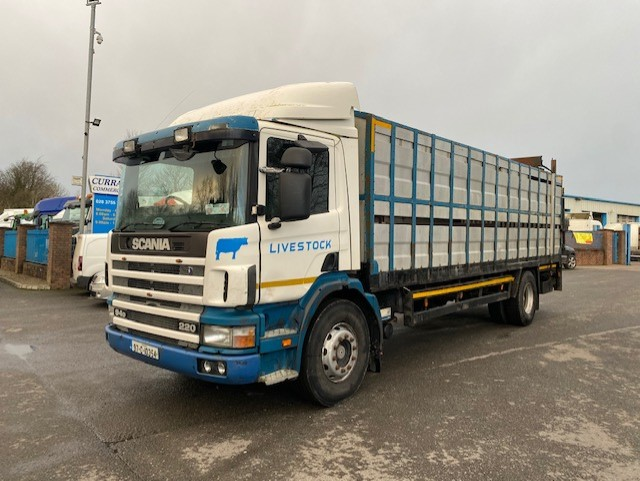 1997 scania 94d 220 4x2 18 ton cattle lorry with deck