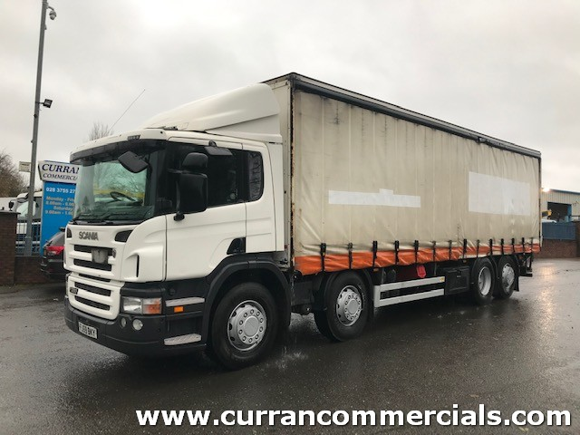 2009 scania p360 8x2 on air 32 ton 30ft curtainsider or chassis cab