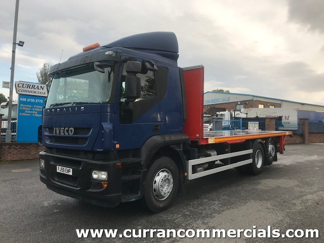 2010 iveco stralis 330 6x2 26 ton 26ft flat bed