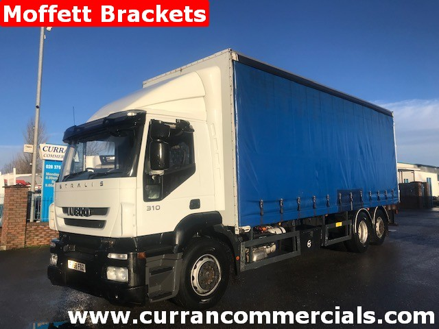 2008 iveco stralis 310 6x2 curtainsider with fork lift brackets