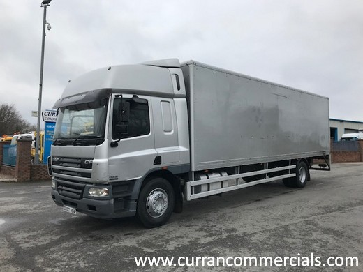 2007 daf cf 65 250 18 ton box with tail lift for sale