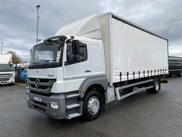 2014 mercedes axor 1824 4x2 18 ton 26ft curtainsider with tail lift
