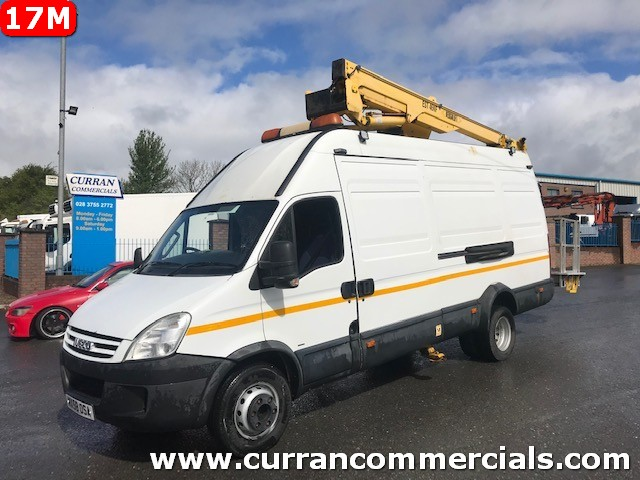 2008 iveco daily 65c18 6.5 ton lwb van with 17m cherry picker access equipment