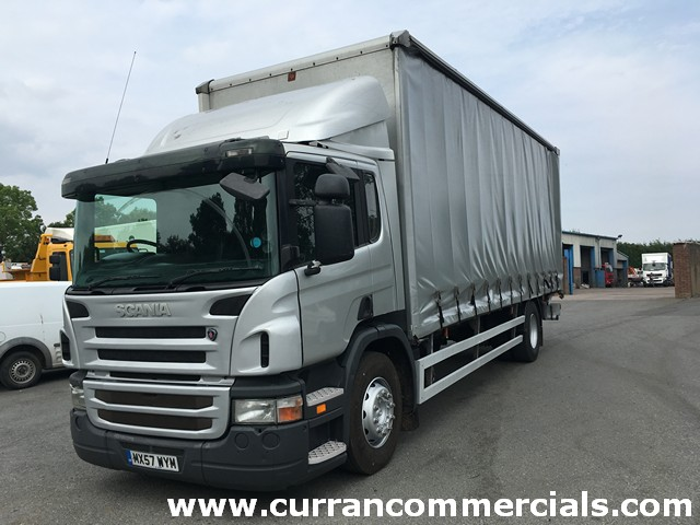 2008 Scania P 230 18 ton 4X2 26ft curtainside with 1.5ton tail lift