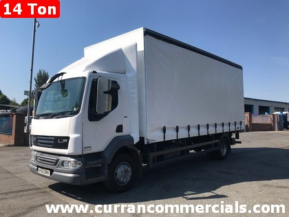 2013 daf lf 55 180 14 ton curtainsider with tail lift for sale