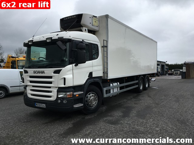 2010 Scania P270 6X2 26 ton rear lift axle 28ft Fridge Freezer + Tail Lift
