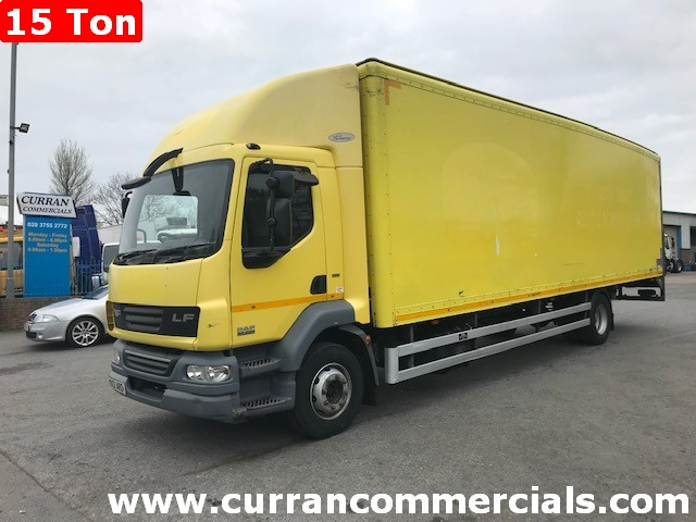 2012 daf lf 55 220 15 ton 28ft grp box with tail lift