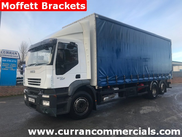 2007 iveco stralis 310 6x2 curtainsider with moffet fork lift brackets