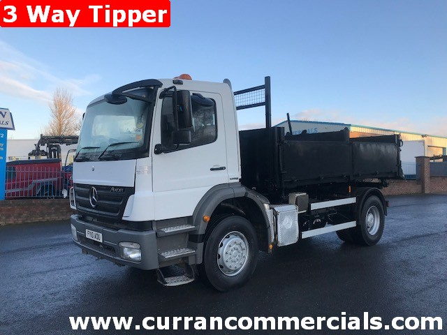 2010 mercedes 1823 axor 18 ton 3 way tipper for sale