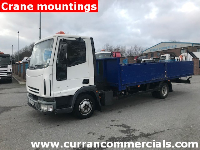 2005 iveco 75e17 7.5 ton dropside flat with crane mountings