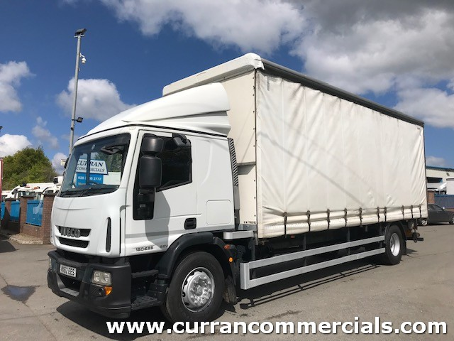 2012 iveco 180e25 18 ton curtainsider with tail lift
