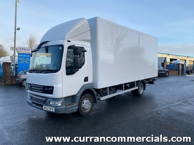 2012 daf lf 45 160 7.5 ton 20ft box with tail lift