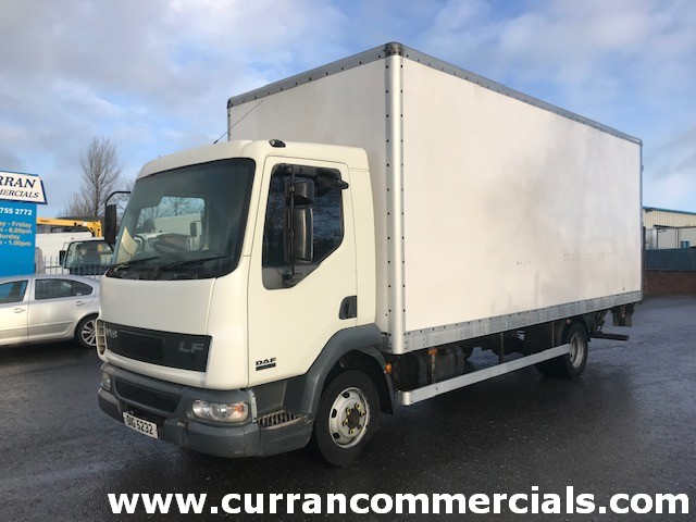 2002 daf lf 45 150 7.5 ton 20ft box with tail lift
