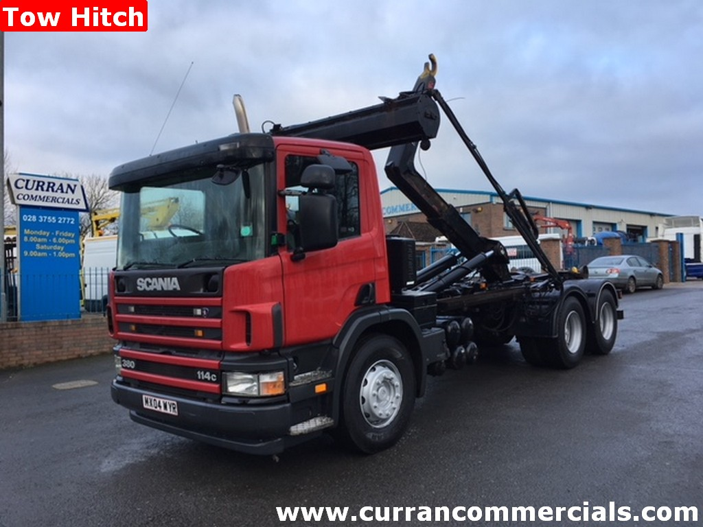 2004 Scania P380 6x4 26 ton Hook Loader Skip Refuse Bin Wagon