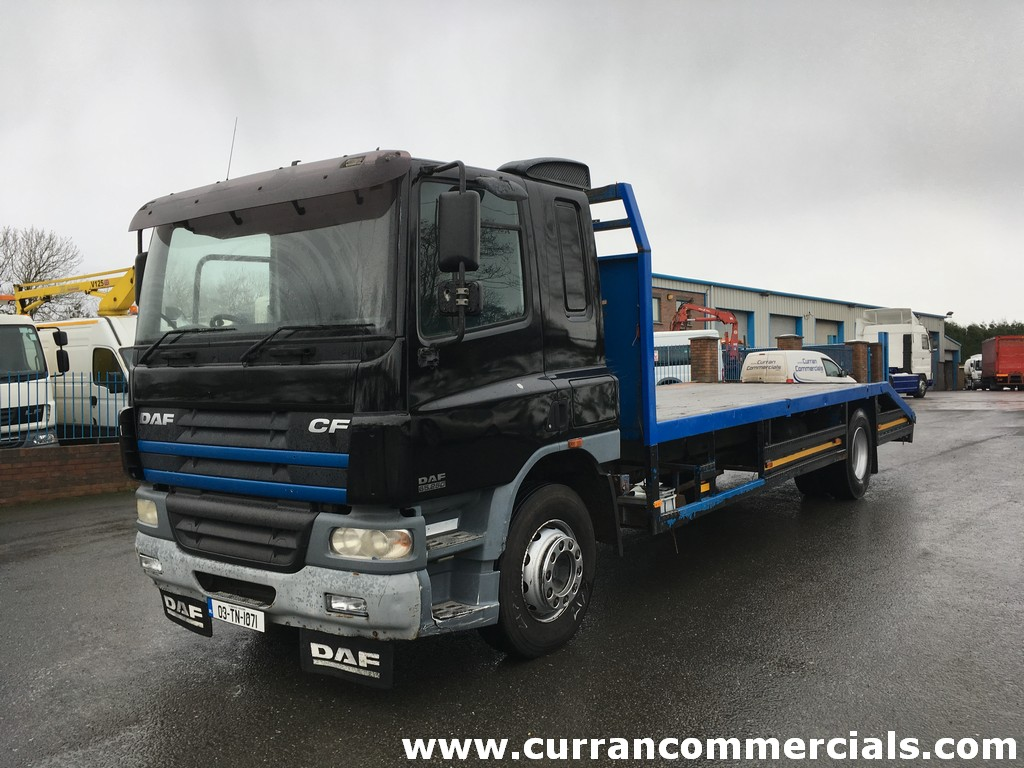2003 Daf CF 65 250 18 Ton 4x2 22ft Beavertail Flat for sale