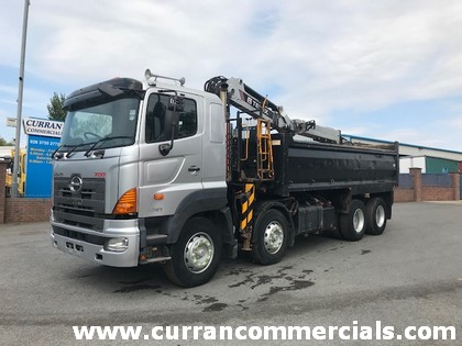 2008 hino 700 3241 8x4 tipper grab for sale