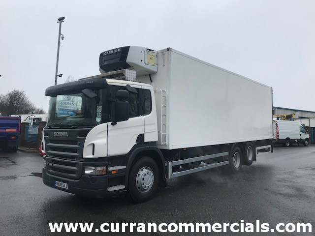 2008 scania p310 6x2 fridge with tail lift