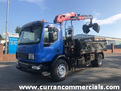 2007 daf lf 55 220 18 ton tipper grab for sale