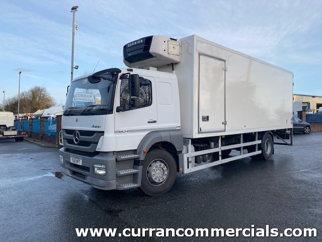 2011 mercedes axor 1824 18 ton sleeper cab 26ft multi temp fridge with barn doors and tail lift