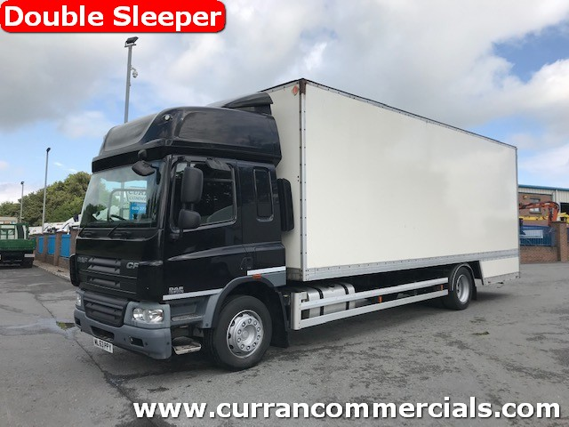 2013 daf cf 65 220 18 ton euro 5 double sleeper cab with 28ft furniture box and dropwell