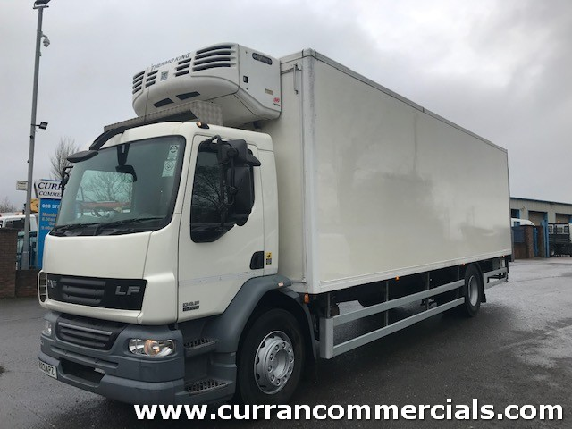 2013 daf lf 55 220 18 ton fridge with tail lift