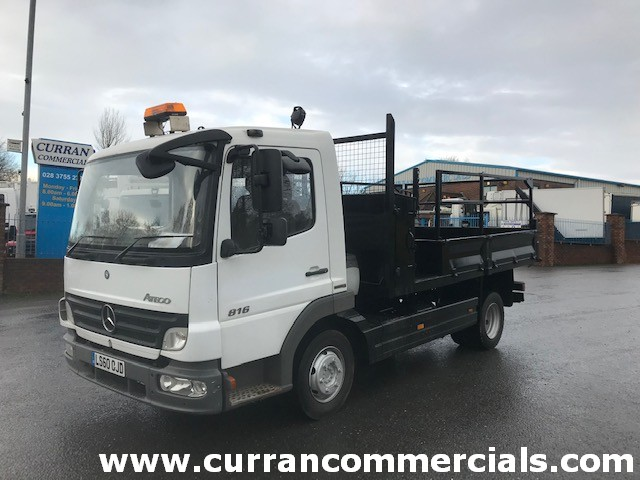 2011 mercedes atego 816 7.5 ton dropside insulated tipper
