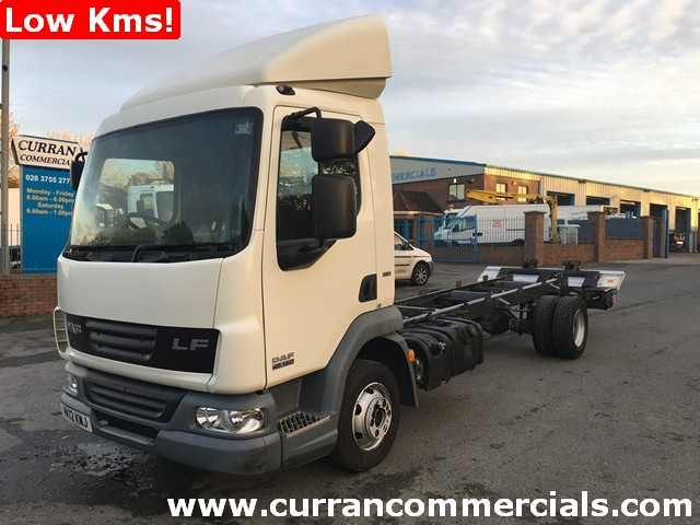 2012 Daf LF 45.160 7.5 ton 20ft chassis cab with 1.5 ton Tail Lift Low KMs!