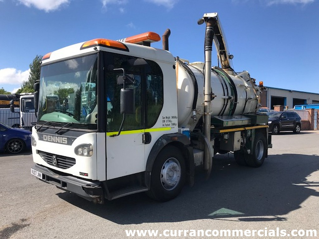 2007 dennis elite2 4x2 vacuum tanker gully sucker