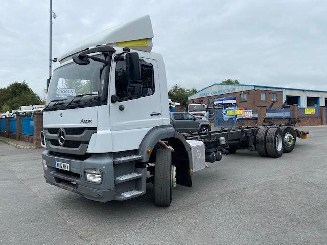 2012 mercedes axor 2529 6x2 28ft chassis cab
