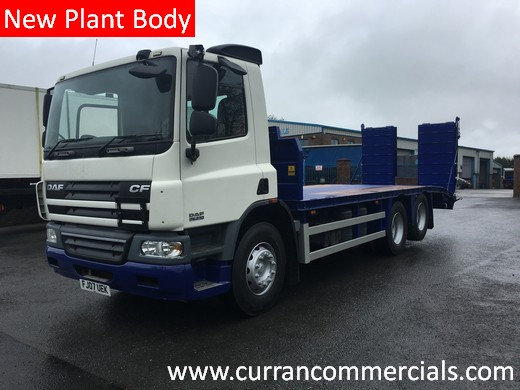 2007 daf cf 75 310 6x2 26 ton 25ft beavertail for sale