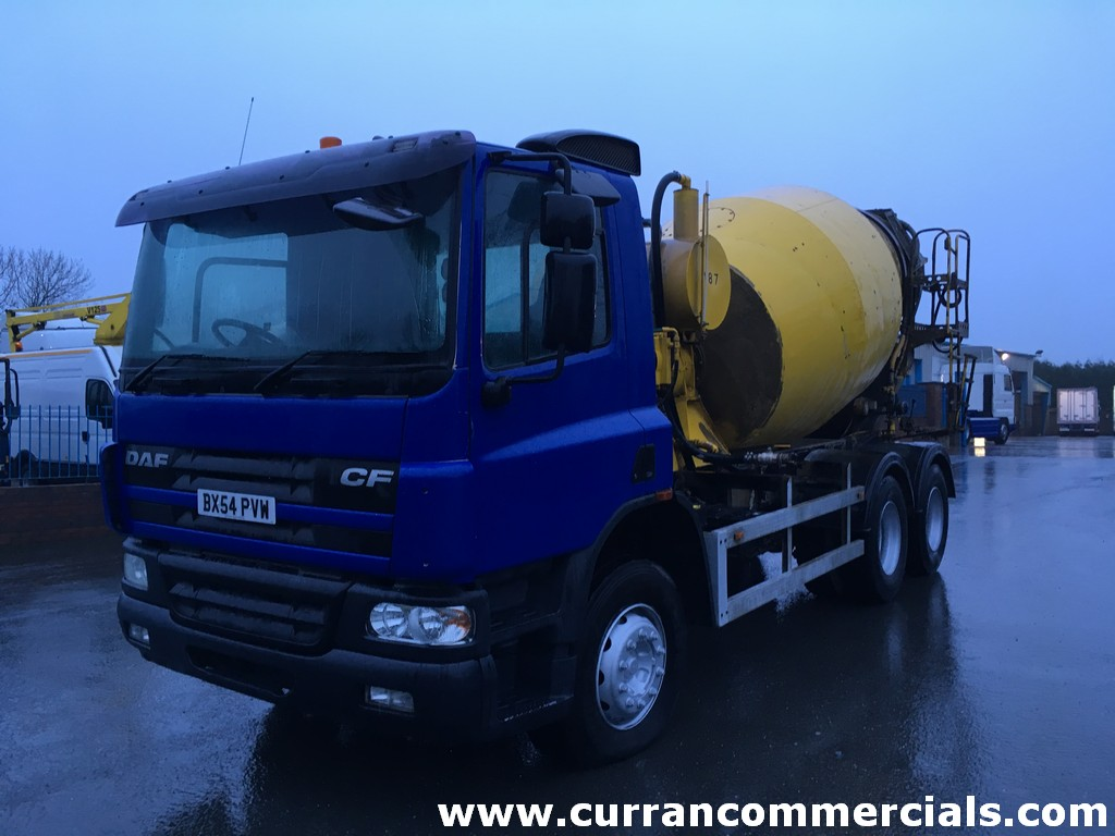 2004 Daf CF 75 310 26 ton 6x4 concrete mixer, Manual low miles