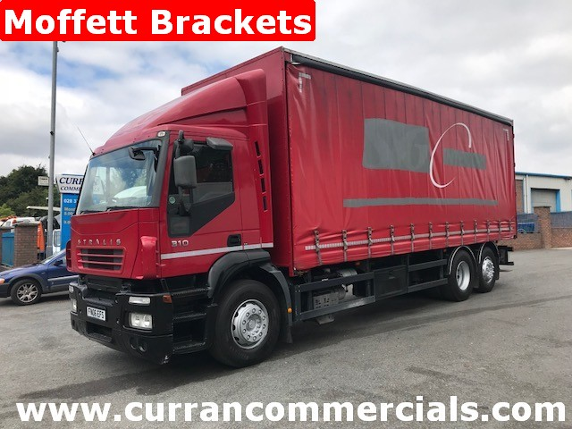 2006 iveco stralis 310 6x2 curtainsider with moffett mounty fork lift brackets