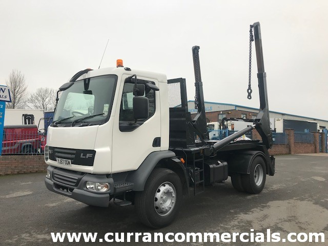 2007 Daf LF 55 220 18T Telescopic Skip Loader Lorry chain Wagon for sale