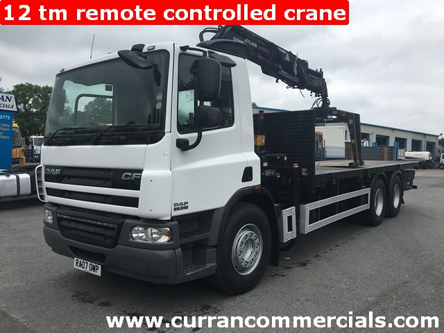 2007 Daf CF 75 310 26 Ton 6x4 24ft Flat With 12TM Remote Hiab Crane+ GRAB