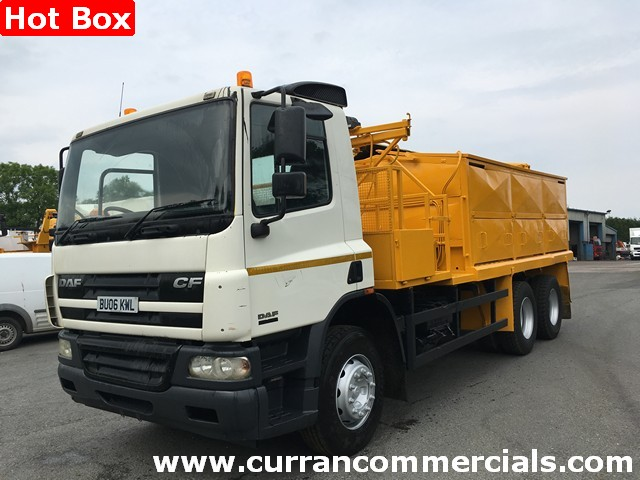 2006 Daf CF 75 310 6x4 26 Ton hot box equipped, Split compartment