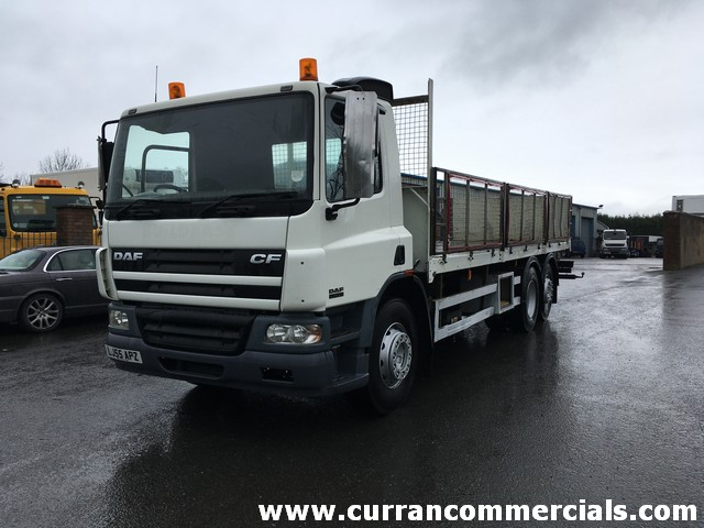2005 Daf CF75 310 6x2 rear lift+ steer axle, 24ft flat