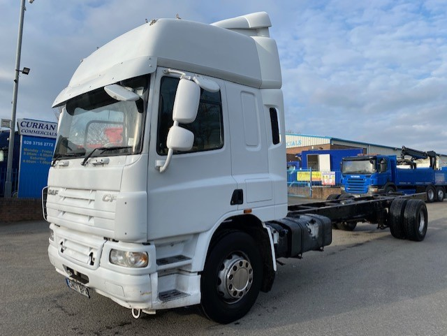 2007 daf cf 65 280 4x2 18 ton 30ft chassis cab