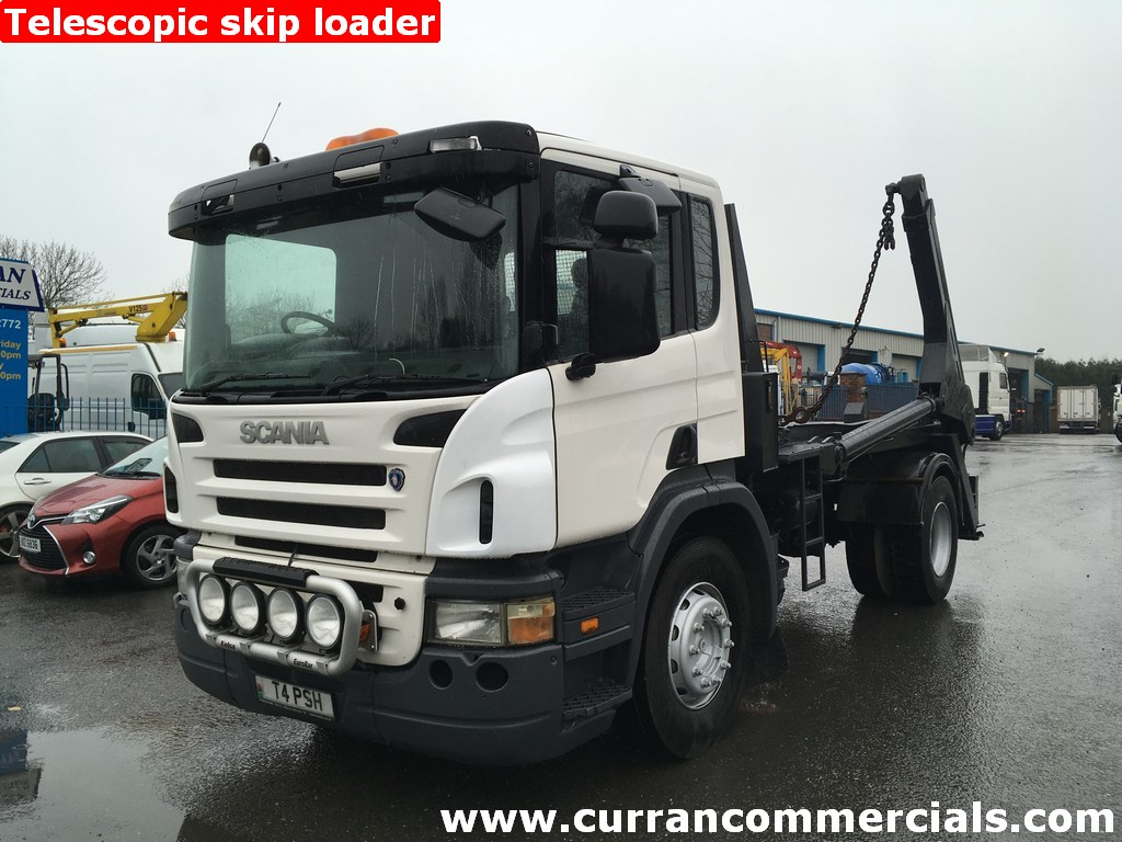 2006 Scania P230 18T Telescopic Skip Loader Lorry Refuse Bin Wagon