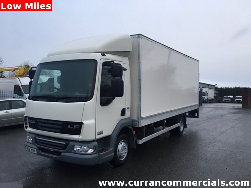 2013 Daf LF 45 160 7.5 ton 20ft box body + 1.5 ton tail lift low miles Euro 5