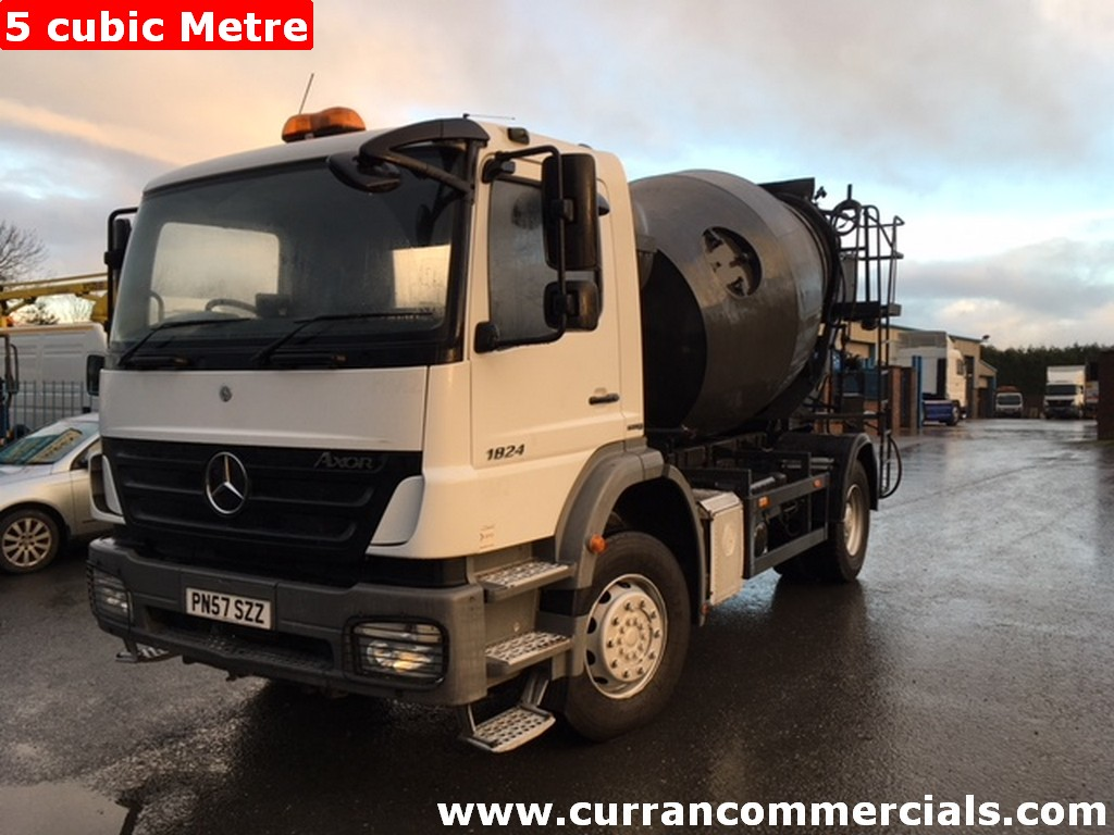 2007 Mercedes Axor 1824 18 ton 4x2 concrete mixer, Manual low kms