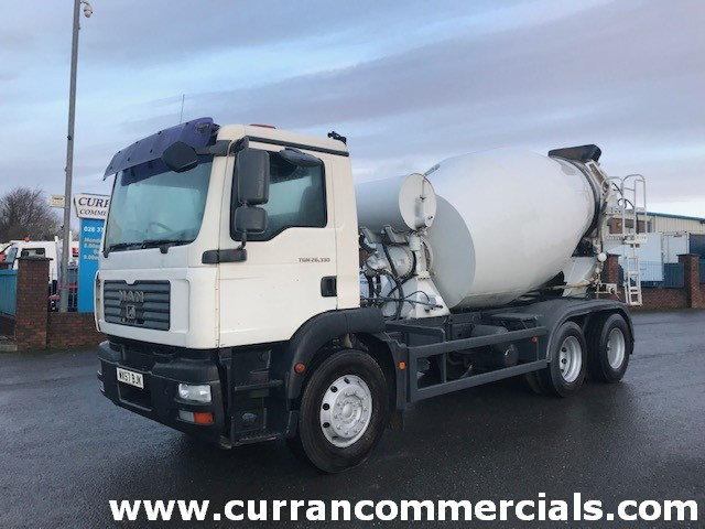 2008 man tgm 26.330 6x4 concrete mixer for sale