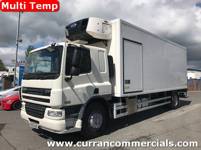 2013 daf cf 65 250 4x2 18 ton multi temp fridge with tail lift