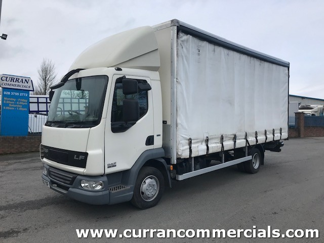 2012 daf lf 45 160 7.5 ton 20ft curtainsider with tail lift